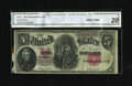 Fr. 88 $5 1907 Legal Tender CGA Very Fine 20. A four zero ending is noticed on this Woodchopper whose CGA encasement has...