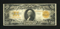 Large Size:Gold Certificates, Fr. 1187 $20 1922 Gold Certificate Very Fine+. A problem-free gold note with bold colors and original paper. Some folds are...