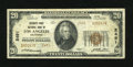 National Bank Notes: , Los Angeles, CA - $20 1929 Ty. 2 Security-First NB Ch. # 2491. Of the Series 1929 types and denominations issued by this...