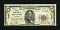 National Bank Notes:Maryland, Baltimore, MD - $5 1929 Ty. 2 National Central Bank Ch. # 11207.Though cut a bit into the design this example still rem...