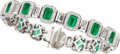 Estate Jewelry:Bracelets, Emerald, Diamond, Platinum Bracelet, JB Star. ...