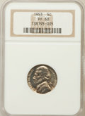 Proof Jefferson Nickels: , 1953 5C PR68 NGC. NGC Census: (454/56). PCGS Population (162/1).Mintage: 128,800. Numismedia Wsl. Price for problem free N...