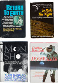 Explorers:Space Exploration, Apollo Moonwalkers: Four Signed Books.... (Total: 4 Items)
