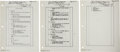 "Explorers:Space Exploration, Gemini 5 Flown Reentry Checklist ""Left SW C/B Panel"" Pages (Three)Originally from the Personal Collection of Mission Pilot Ch...(Total: 3 Items)"
