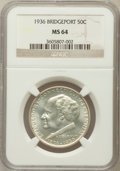 Commemorative Silver: , 1936 50C Bridgeport MS64 NGC. NGC Census: (1069/1582). PCGSPopulation (1822/2339). Mintage: 25,015. Numismedia Wsl. Price ...