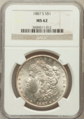 Morgan Dollars: , 1887-S $1 MS62 NGC. NGC Census: (1215/2672). PCGS Population(1720/4680). Mintage: 1,771,000. Numismedia Wsl. Price for pro...