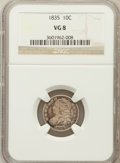 Bust Dimes: , 1835 10C VG8 NGC. NGC Census: (6/482). PCGS Population (6/617).Mintage: 1,410,000. Numismedia Wsl. Price for problem free ...