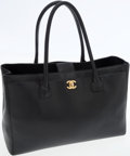 Luxury Accessories:Bags, Chanel Black Caviar Leather Classic Cerf Tote Bag with GoldHardware. ...
