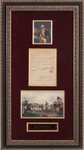 Autographs:Military Figures, Benjamin Lincoln Document Signed...