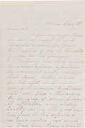 Miscellaneous:Ephemera, [Abraham Lincoln]. Lincoln Assassination Letter by an unknownauthor.... (Total: 2 Items)