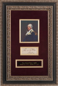 Autographs:Statesmen, Thomas Mifflin Signature....