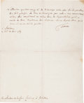 Autographs:Non-American, [Frederick the Great]. Frederick II, King of Prussia, LetterSigned...