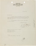 Autographs:Military Figures, George S. Patton, Jr. Typed Letter Signed...