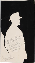 Autographs:Military Figures, Chester W. Nimitz Inscribed Paper Silhouette Signed....