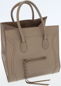 Luxury Accessories:Bags, Celine Taupe Leather Phantom Luggage Tote Bag. ...