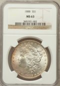 Morgan Dollars: , 1888 $1 MS63 NGC. NGC Census: (13099/24810). PCGS Population(13643/17364). Mintage: 19,183,832. Numismedia Wsl. Price for ...