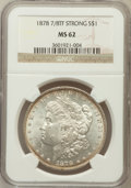 Morgan Dollars: , 1878 7/8TF $1 Strong MS62 NGC. NGC Census: (886/2624). PCGSPopulation (1156/4070). Mintage: 544,000. Numismedia Wsl. Price...
