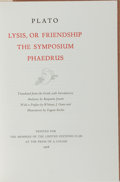Books:Philosophy, [Limited Editions Club]. Plato. SIGNED/LIMITED. Lysis, or Friendship, The Symposium, and Phaedrus. LEC, ...
