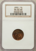 Indian Cents: , 1882 1C MS64 Red and Brown NGC. NGC Census: (159/121). PCGSPopulation (243/72). Mintage: 38,581,100. Numismedia Wsl. Price...