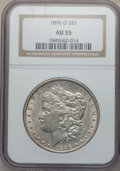 Morgan Dollars: , 1896-O $1 AU55 NGC. NGC Census: (899/2632). PCGS Population(880/2264). Mintage: 4,900,000. Numismedia Wsl. Price for probl...