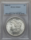 Morgan Dollars: , 1880-O $1 MS63 PCGS. PCGS Population (2224/1222). NGC Census:(1863/1031). Mintage: 5,305,000. Numismedia Wsl. Price for pr...