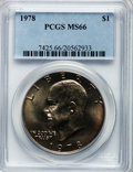 Eisenhower Dollars: , 1978 $1 MS66 PCGS. PCGS Population (340/5). NGC Census: (131/5). Mintage: 25,702,000. Numismedia Wsl. Price for problem fre...
