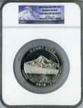 Modern Bullion Coins, 2010 25C Mount Hood Five Ounce Silver, Early Releases GemUncirculated NGC....