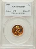 Proof Lincoln Cents: , 1959 1C PR68 Red PCGS. PCGS Population (42/2). NGC Census:(302/96). Mintage: 1,149,291. Numismedia Wsl. Price for problem ...