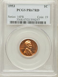 Proof Lincoln Cents: , 1953 1C PR67 Red PCGS. PCGS Population (256/24). NGC Census:(423/163). Mintage: 128,800. Numismedia Wsl. Price for problem...