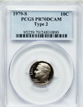 Proof Roosevelt Dimes: , 1979-S 10C Type Two PR70 Deep Cameo PCGS. PCGS Population (269).NGC Census: (65). Numismedia Wsl. Price for problem free ...