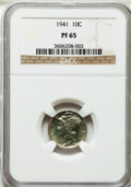 Proof Mercury Dimes: , 1941 10C PR65 NGC. NGC Census: (717/1414). PCGS Population(1423/1349). Mintage: 16,557. Numismedia Wsl. Price for problem ...