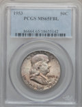 Franklin Half Dollars: , 1953 50C MS65 Full Bell Lines PCGS. PCGS Population (288/32). NGCCensus: (37/2). Numismedia Wsl. Price for problem free N...