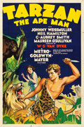 "Movie Posters:Adventure, Tarzan the Ape Man (MGM, 1932). One Sheet (27"" X 41"").. ..."