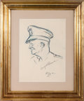 Autographs:U.S. Presidents, Dwight D. Eisenhower Drawing Signed....