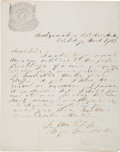 Autographs:Military Figures, [Civil War]. Isaac M. Partridge Autograph Letter Signed...