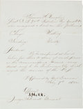 Miscellaneous:Ephemera, [Lincoln Assassination]. Joseph Holt Fair Copy of a SentenceSigned....