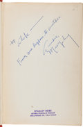 Autographs:Military Figures, Audie Murphy. Inscribed Copy of To Hell and Back Signed....