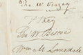 Autographs:Celebrities, Francis Scott Key Petition Signed...