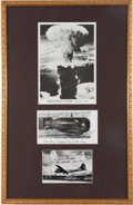 Autographs:Military Figures, [Enola Gay]. Three Photographs Signed by Crewmembers of theEnola Gay...