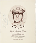 Autographs:Military Figures, Douglas MacArthur Program Signed...