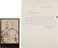 Autographs:Military Figures, Fitzhugh Lee Typed Letter Signed.... (Total: 2 Items)
