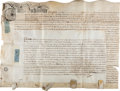 Miscellaneous:Ephemera, [Queen Anne]. Indenture from the Reign of Queen Anne....