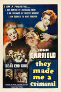 """Movie Posters:Crime, They Made Me a Criminal (Warner Brothers, 1939). One Sheet (27"""" X 41"""").. ..."""