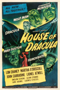 "Movie Posters:Horror, House of Dracula (Universal, 1945). One Sheet (27"" X 41"").. ..."