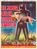"Movie Posters:Science Fiction, The Day the Earth Stood Still (20th Century Fox, 1951). Belgian(14.25 X 19"").. ..."
