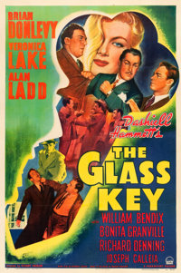"""The Glass Key (Paramount, 1942). One Sheet (27"""" X 41""""). From the Leonard and Alice Maltin Collection"""