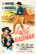 "Movie Posters:Western, Angel and the Badman (Republic, 1947). One Sheet (27"" X 41"").. ..."