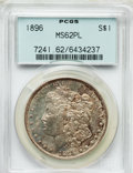 Morgan Dollars: , 1896 $1 MS62 Prooflike PCGS. PCGS Population (131/692). NGC Census: (55/505). Numismedia Wsl. Price for problem free NGC/P...