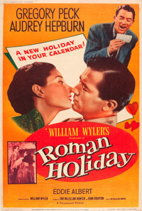 "Roman Holiday (Paramount, 1953). Poster (40"" X 60"") Style Y"