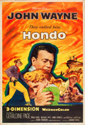 "Movie Posters:Western, Hondo (Warner Brothers, 1953). Poster (40"" X 60"") 3-D Style Z.. ..."